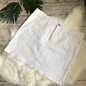 Tommy Hilfiger White Denim Skirt